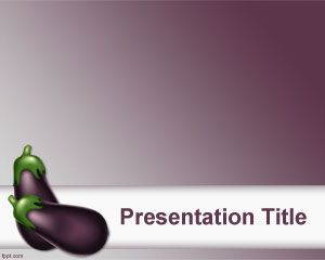 Aubergine PowerPoint Template is free for downloading