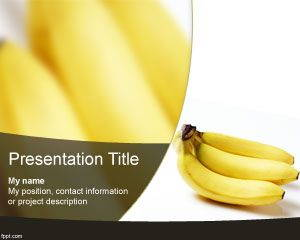 Banana PowerPoint Template is FREE for download