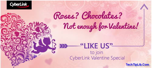 Join Be My Valentine of CyberLink and get FREE PhotoDirector 4 & YouCam 4 Duluxe