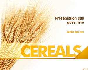 Cereals PowerPoint Template is FREE for downloading