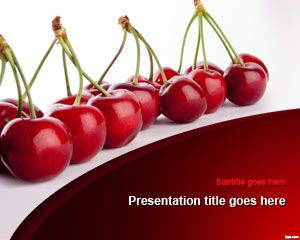 Cherries PowerPoint Template is FREE for downloading