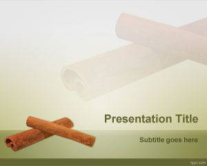 Cinnamon PowerPoint Template is free for downloading