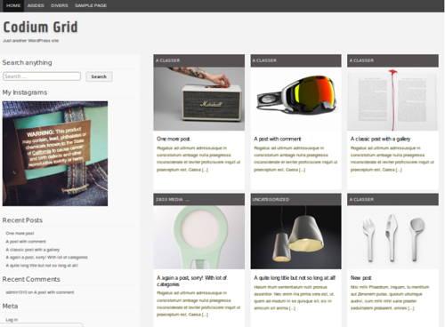 Codium Grid - Free WordPress Theme