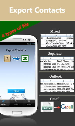 Contacts-Excel - is the best way to transfer contacts to and from your phone 1