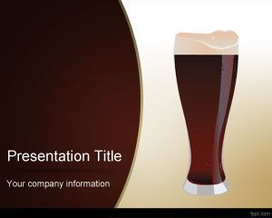 Dark Beer PowerPoint Template is free for downloading