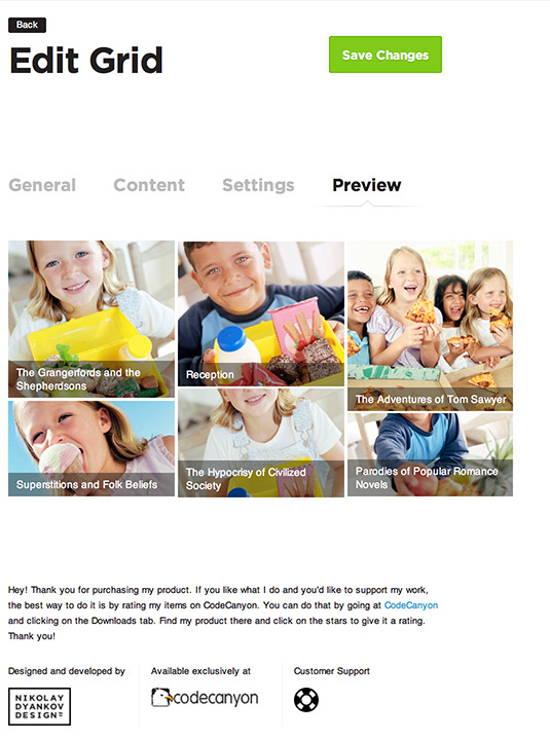 Edit the Dynamic Grid WordPress Posts Feed Slider screenshot