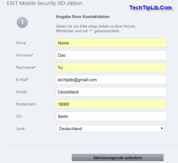Guide to get FREE 1 year license key of ESET Mobile Security for Android step 1