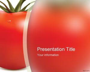 Fresh Tomato PowerPoint Template is free for downloading
