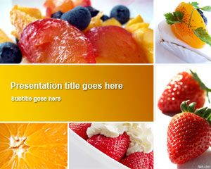 Fruit Dishes PowerPoint Template is FREE for downloading