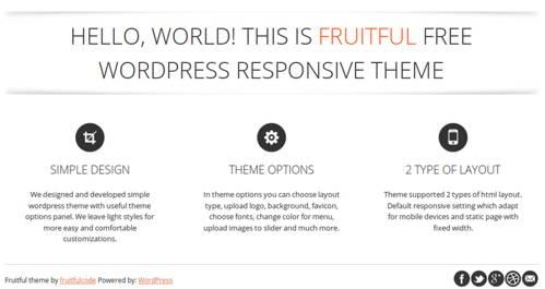 Fruitful - Free WordPress Theme