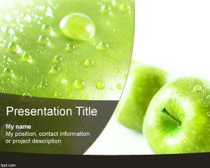 Green Apple PowerPoint Template is FREE for downloading