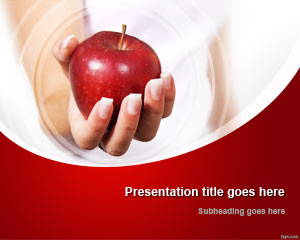 Hand & Red Apple PowerPoint Template is FREE for downloading