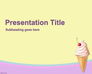 Ice Cream Powerpoint Template is FREE for downloading