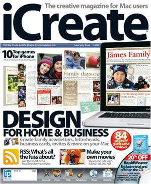 Icreate (England) is the magazine for Mac users