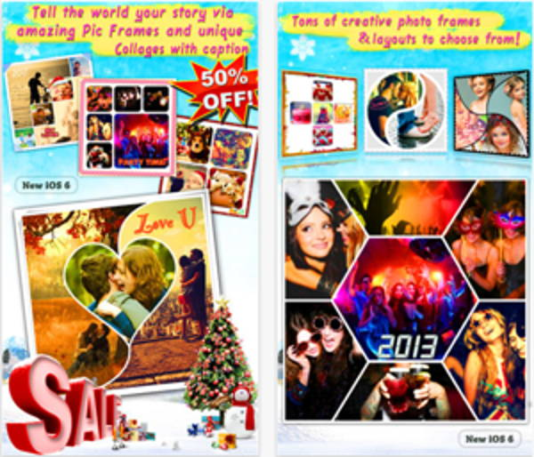 Instacollage Pro is a photo collage maker for iOS
