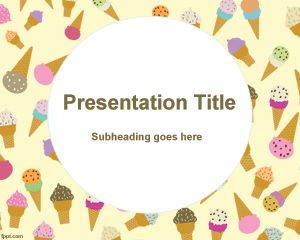 Italian icecream PowerPoint Template is FREE for downloading