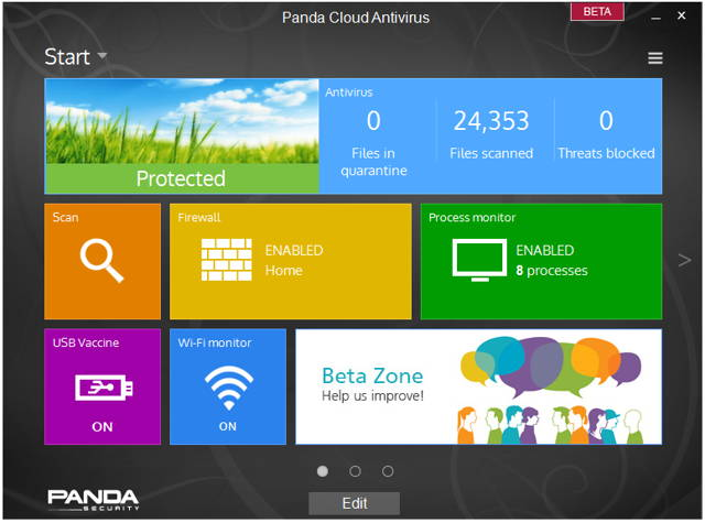 new features of Panda Cloud Antivirus 2.9 Beta