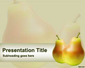 Pear PowerPoint Template is FREE for downloading