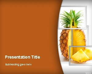 Pineapple PowerPoint Template is FREE for downloading