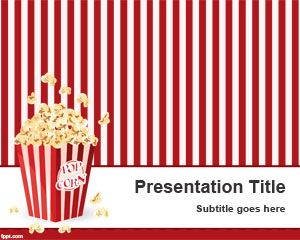 Pop Corn PowerPoint Template is free for downloading