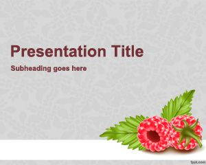 Raspberries PowerPoint Template is FREE for downloading