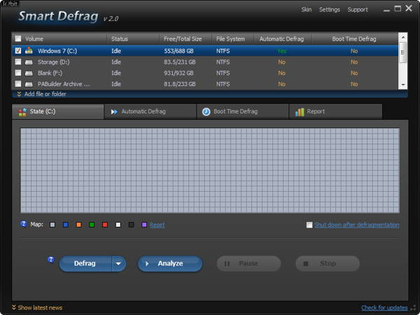 SmartDefrag Portable is a freeware for personal and business use