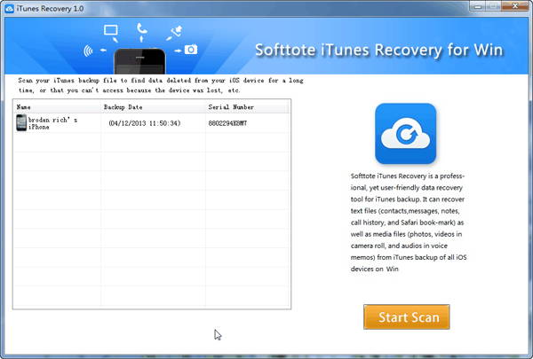 Freebie from TechTipLib: free license key of Softtote iTunes Data Recovery for Windows