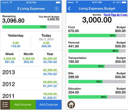 easy manage your spending with Spending 2 for iOS