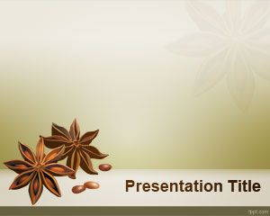 Star Anise PowerPoint Template is free for downloading