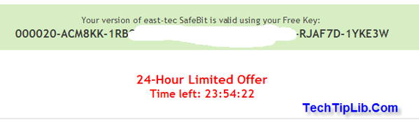 Step 3 - to get free license key of east-tec SafeBit2-3