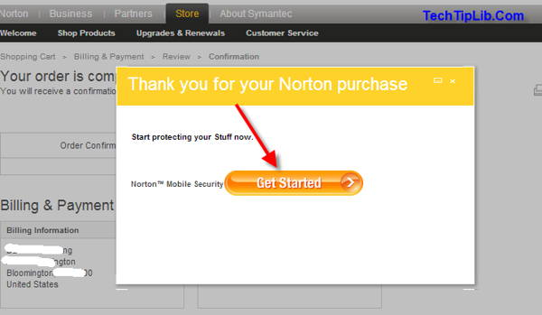Step 6 to get FREE Norton Mobile Security for Sochi Promotion 2014