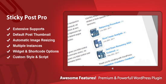 Share free Sticky Post Pro - WordPress Premium Plugin