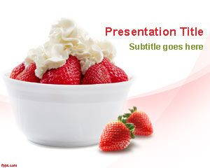 Strawberry Fruit PowerPoint Template is FREE for downloading