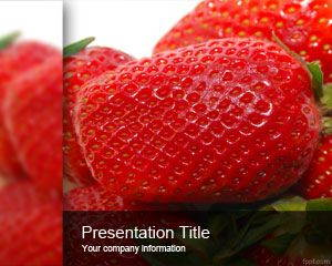 Strawberry PowerPoint Template is free for downloading
