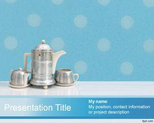Tea set PowerPoint Template is FREE for downloading