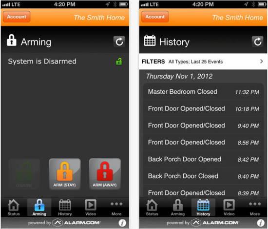 Vivint- smart home app for iOS