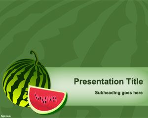 Watermelon PowerPoint Template is FREE for downloading