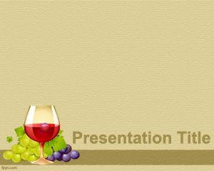 Wines Template for PowerPoint is FREE for downloading
