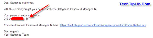 Check mail to get FREE license key of Steganos Password Manager