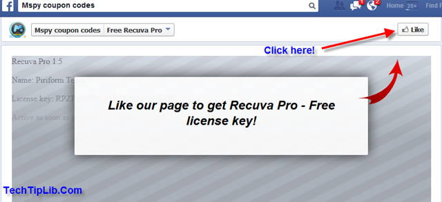Like to get free license key of Recuva Pro 1.5-2014