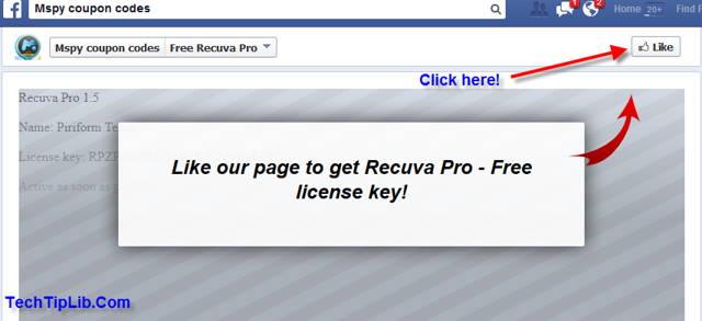 Like to get free license key of Recuva Pro 1.5-2014