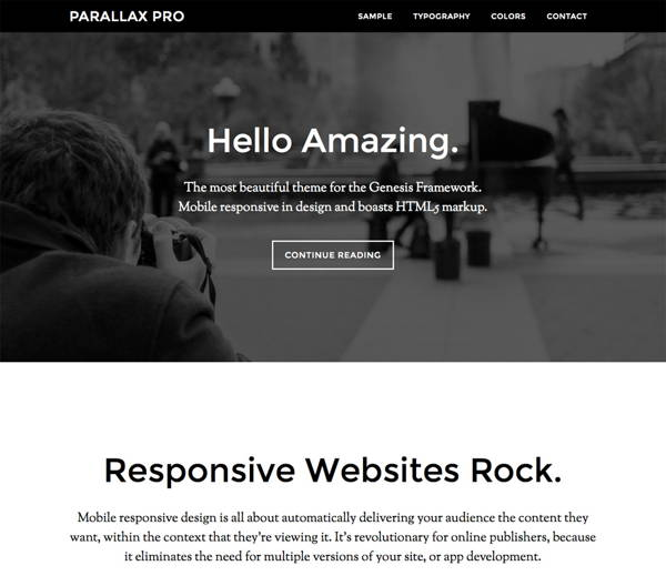 Download FREE Parallax Pro - The most amazing Genesis child theme ever!