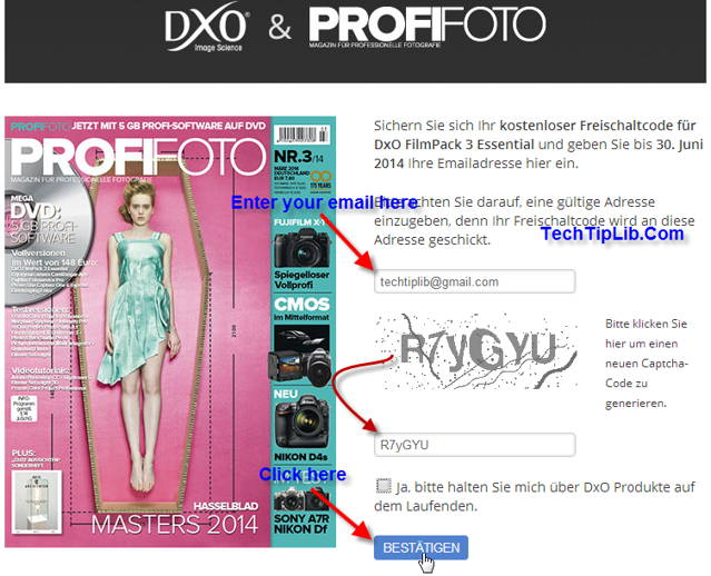 Step 1 - the guide to Get free license key of DxO FilmPack 3 Essential