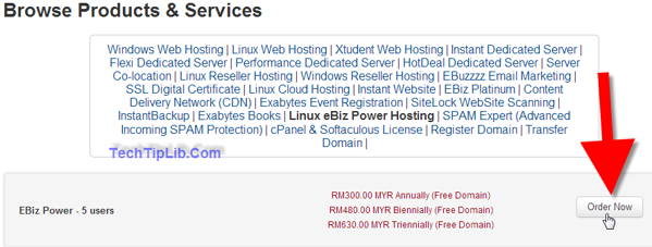 click order now to get off 99% web hosting of exabytes