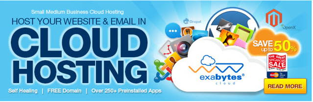 Exabytes deal: Get 50 off  We hosting march 2014