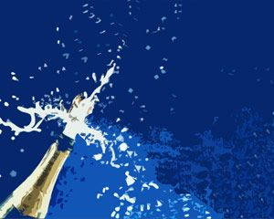 Champagne for celebration PPT is FREE for downloading