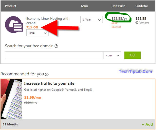 How to get Coupon-1.99-month-hosting-godaddy-3-2014