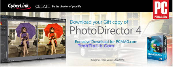 Giveaway of Cyberlink PhotoDirector 4 free for PCMAG