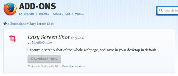 Easy screen shot is a Screen Recorder Extension for Firefox