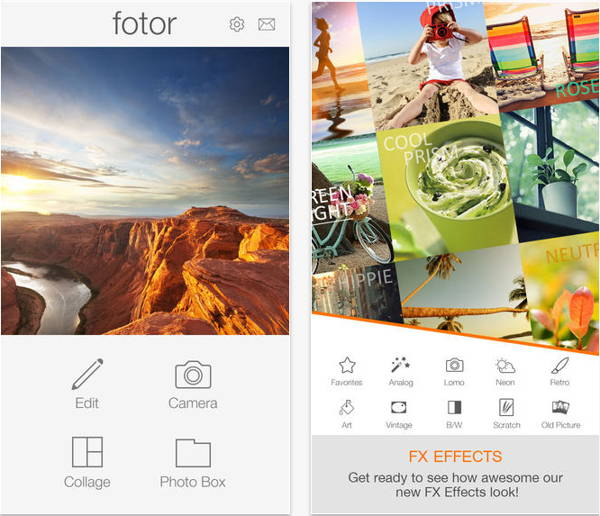 Get the free iOS paid app - Fotor Photo Editor - a photo collage, picture captions, photo effects, filters and frames tool for iPhone, iPad and iPod touch